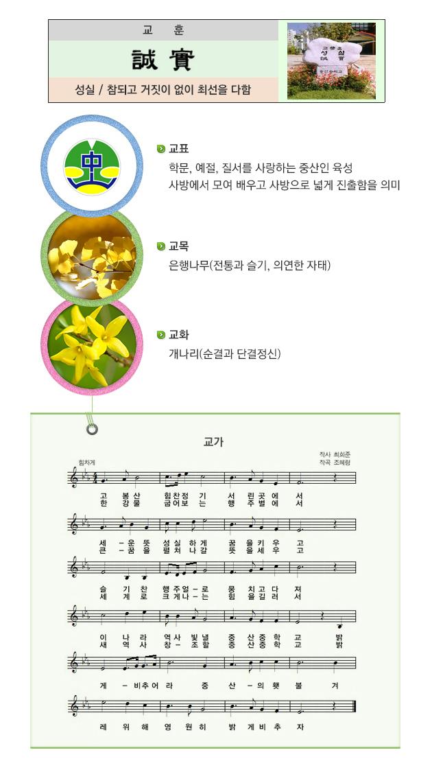 중산중학교 학교상징